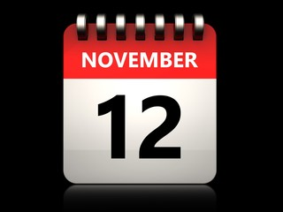 3d 12 november calendar