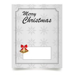 Merry Christmas. Winter Holiday greeting card. Vector illustration