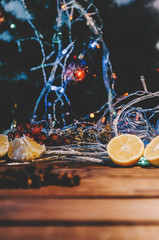 Christmas Wood Background