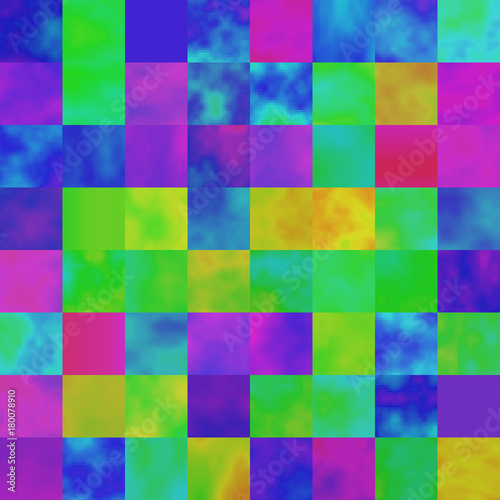 Colorful Abstract Background With Saturated Glitched Screen Modern Seamless Pattern Shuffled Pixel Mosaic