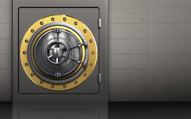 3d metal safe wheel door