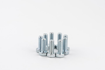some bolts on a white background