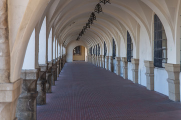 Old antique curved structure forming a passage or corridor building
