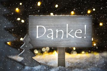 White Christmas Tree, Danke Means Thank You, Snowflakes