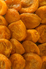 Dried apricots as background