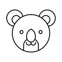Koala icon animal design logo vector illustration