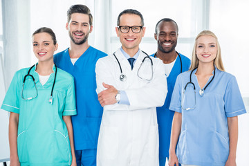 multiethnic team of doctors