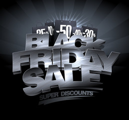 Black friday sale, super discounts banner