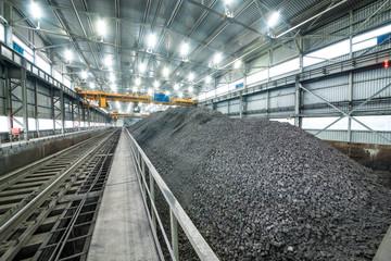 modern industrial building, ore storage