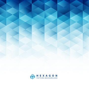 Abstract geometric hexagon pattern blue background, Creative design templates