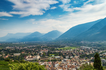 Wall Mural - beautiful view of the city of Merano (Meran), Italy