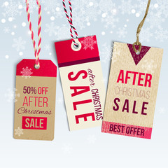 After Christmas sale tags