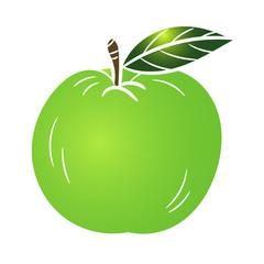 Illustration Green Apple -Vector Illustration