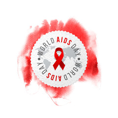 World AIDS day emblem