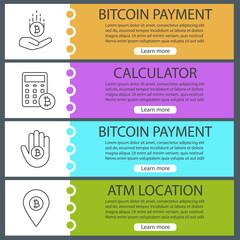 Bitcoin web banner templates set