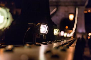 Lights on Chain Bridge in Budapest