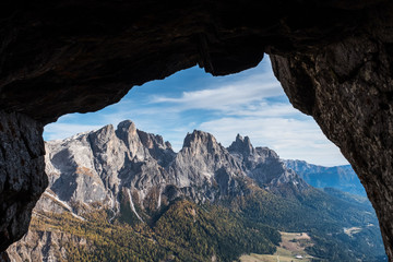 Panorami dolomitici dalle trincee Wall mural
