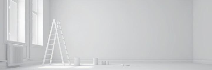 Weißer Raum als Panorama