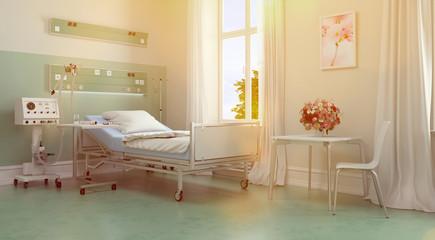 Zimmer für Patienten im Pflegeheim oder Krankenhaus