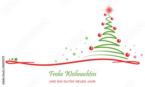 gru karte abstrakter weihnachtsbaum rot gr n. Black Bedroom Furniture Sets. Home Design Ideas