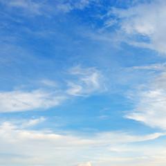 Fototapete - Light cirrus clouds in the blue sky.