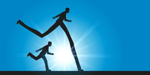 course - compétitif - avantage - leadership - concept - compétition - performance