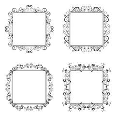 vector illustration of calligraphic elements decorative vintage frame border