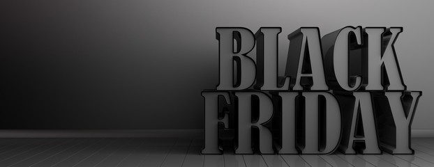 Black Friday concept. 3d illustration