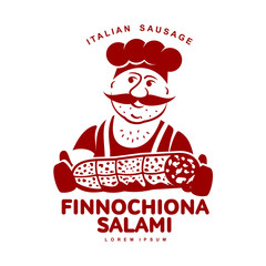 Italian sausage vector illustration