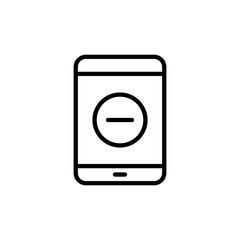 Modern tablet line icon.