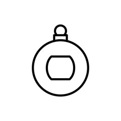 Premium Christmas ball icon or logo in line style.