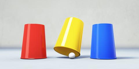Hütchenspieler-Trick - Betrug
