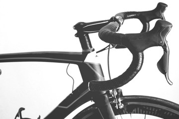 Bicycle details black and white frame