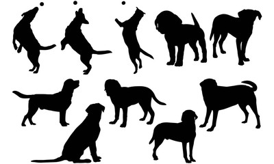 Labrador Retriever Dog Silhouette Vector Graphics