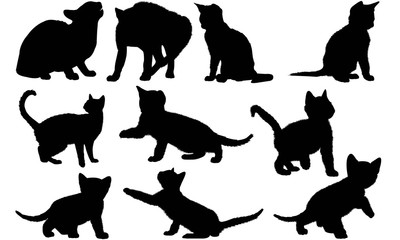 Egyptian Mau Cat Silhouette Vector Graphics
