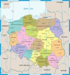 Poland Map - Detailed Vector Illustration