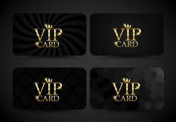 Vip card set VECTOR