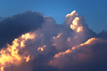 Clolored night clouds, nature series