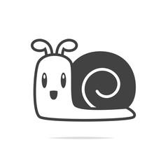 Snail icon vector transparent