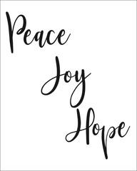 Peace Joy Hope Typography Print