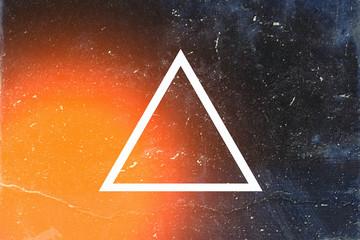 White triangle on dark background