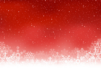 Christmas snowflakes background - Colored Illustration, Vector