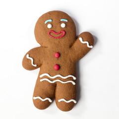 Foto op Aluminium Koekjes Christmas Gingerbreads cookie isolated