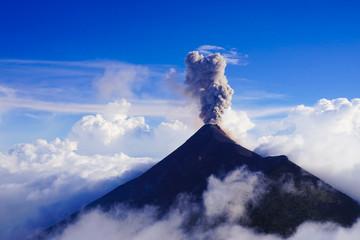 View from Acatenango volcano ,Guatemala