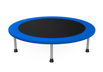 Jumping Trampoline Isolated