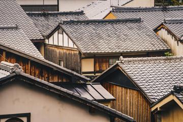 Kyoto traditional houses in Higashiyama District, Japan Wall mural