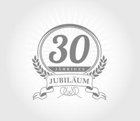 30 Jahre Jubilaeum vector