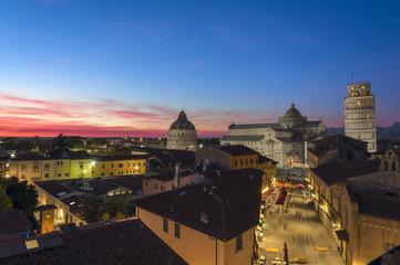 Colored sunset on Piazza dei Miracoli, Pisa