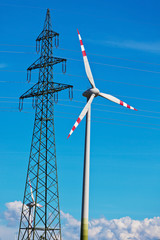 wind turbine of a wind power station for electricity