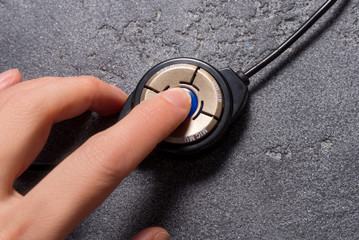 Volume button of headphones